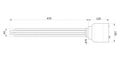400V/50Hz/3N~ (3x2500W) typ MW75 5/4'' z reg. temp. i wy艂. term. firmy EGO